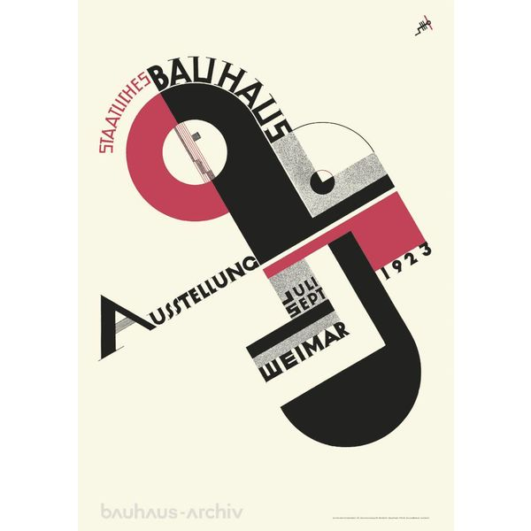 bauhaus-shop bauhaus poster: joost schmidt - plakat zur bauhaus-ausstellung 1923
