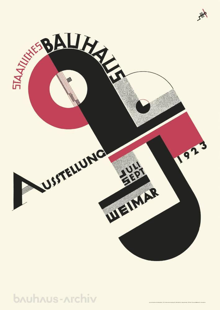 Poster Joost Schmidt Plakat Zur Bauhaus Ausstellung 1923