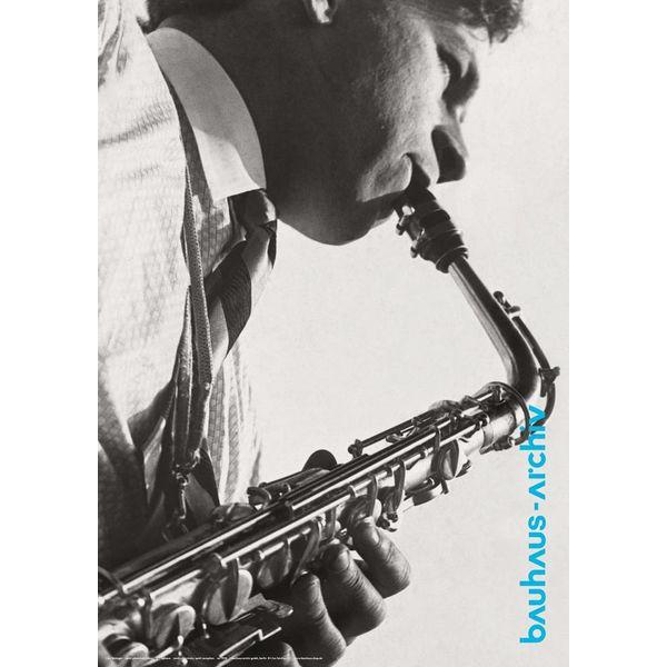 bauhaus-shop plakat: xanti schawinsky am saxophon