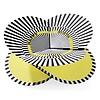 faltkarte | optical gelb, happy birthday – design kirstin hoevermann