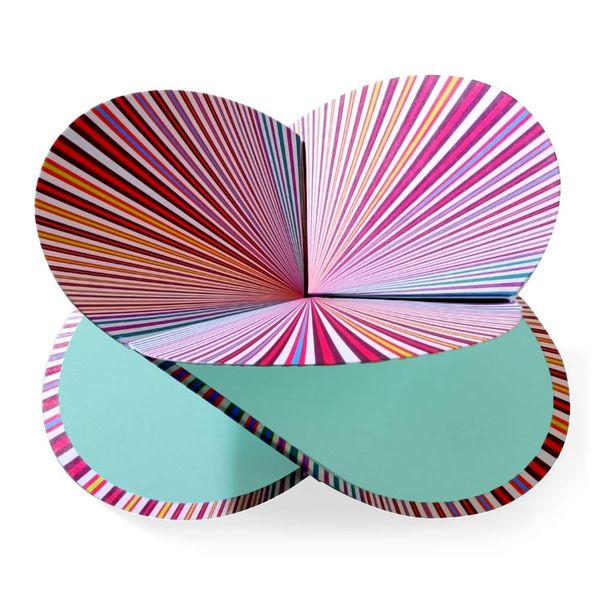 faltmanufakt faltkarte | strahlen – design kirstin hoevermann