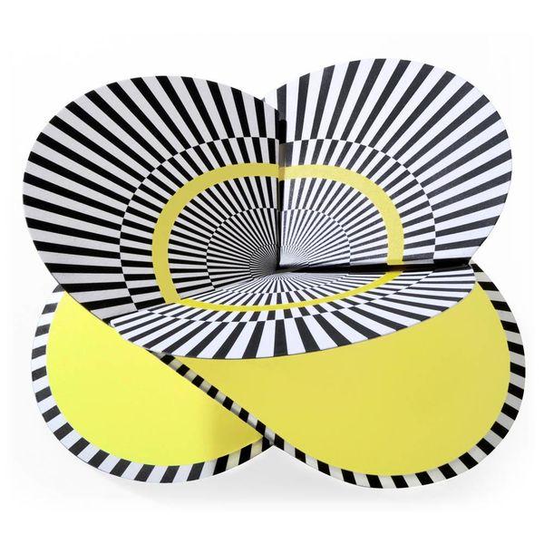 faltmanufakt faltkarte | optical gelb – design kirstin hoevermann
