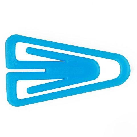 plastiklips büroklammern | 25mm hellblau