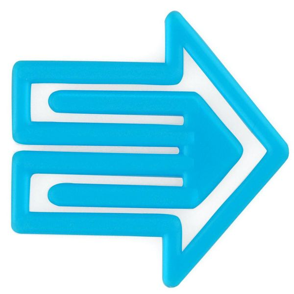 laurel plastiklips | pfeilklip blau – design kurt lorber
