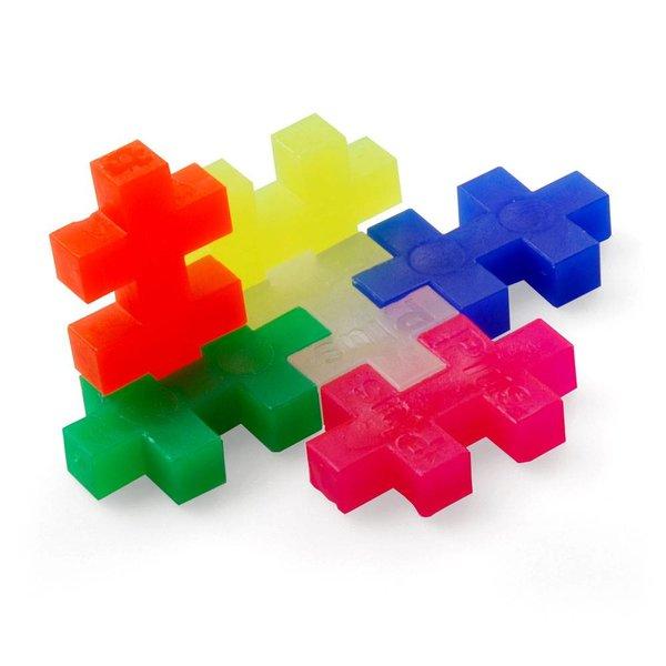 plus-plus plus-plus mini konstruktionsspiel | 35 stück neonfarben