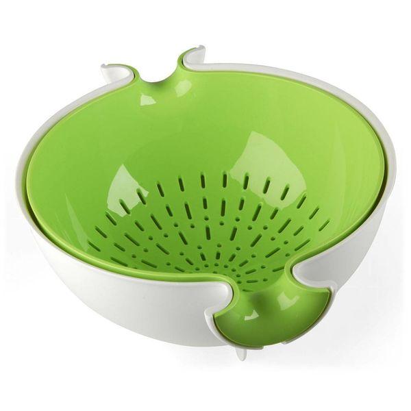 guzzini sieb mit schüsssel | weiss-grün – design nilo gioacchini + crio design