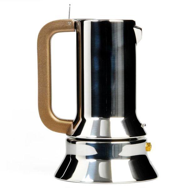 alessi 9090 espressokanne | 3 tassen – design richard sapper