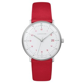 junghans armbanduhr max bill | ø 32,7 mm, quarzuhrwerk, zahlenblatt weiß