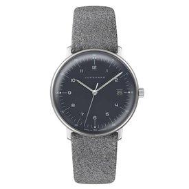 junghans armbanduhr max bill | ø 38 mm, quarzuhrwerk, zahlenblatt schwarz
