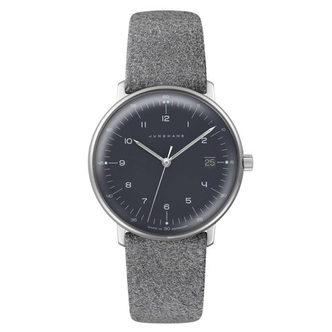 armbanduhr max bill | 33 mm, quarzuhrwerk, zahlenblatt schwarz