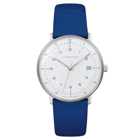 armbanduhr max bill | ø 32,7 mm, quarzuhrwerk, zahlenblatt weiss