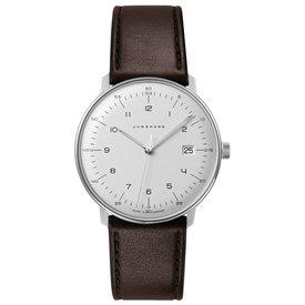 junghans armbanduhr max bill | 38 mm, quarzuhrwerk, zahlenblatt weiss