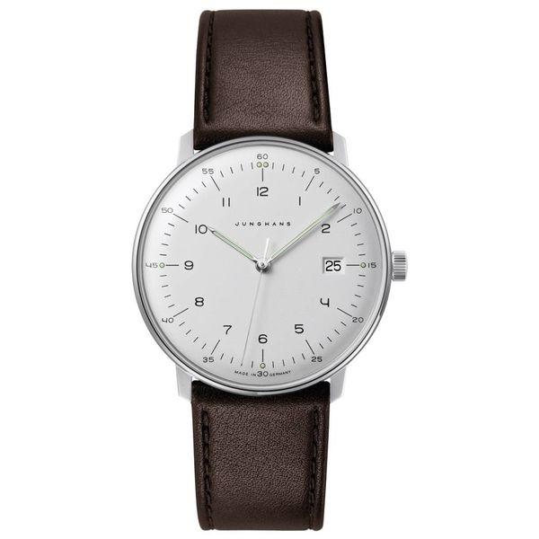 junghans armbanduhr max bill | ø 38 mm, quarzuhrwerk, zahlenblatt weiss