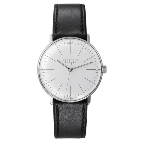 armbanduhr max bill | ø 34 mm, handaufzug, strichblatt weiß