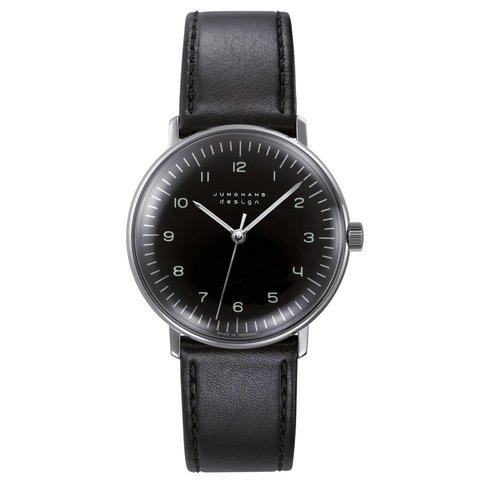 armbanduhr max bill | ø 34 mm, handaufzug, zahlenblatt schwarz