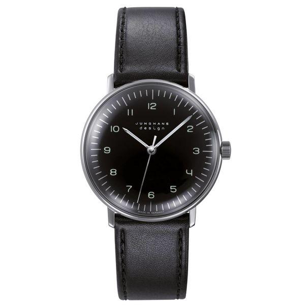 junghans armbanduhr max bill | ø 34 mm, handaufzug, zahlenblatt schwarz