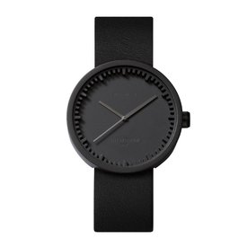 leff tube watch | schwarz, ø 38 mm