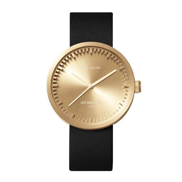 leff tube watch | messing, ø 42 mm – design piet hein eek