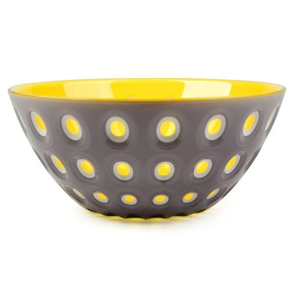 guzzini le murrine schale | grau-gelb – design pio+tito toso