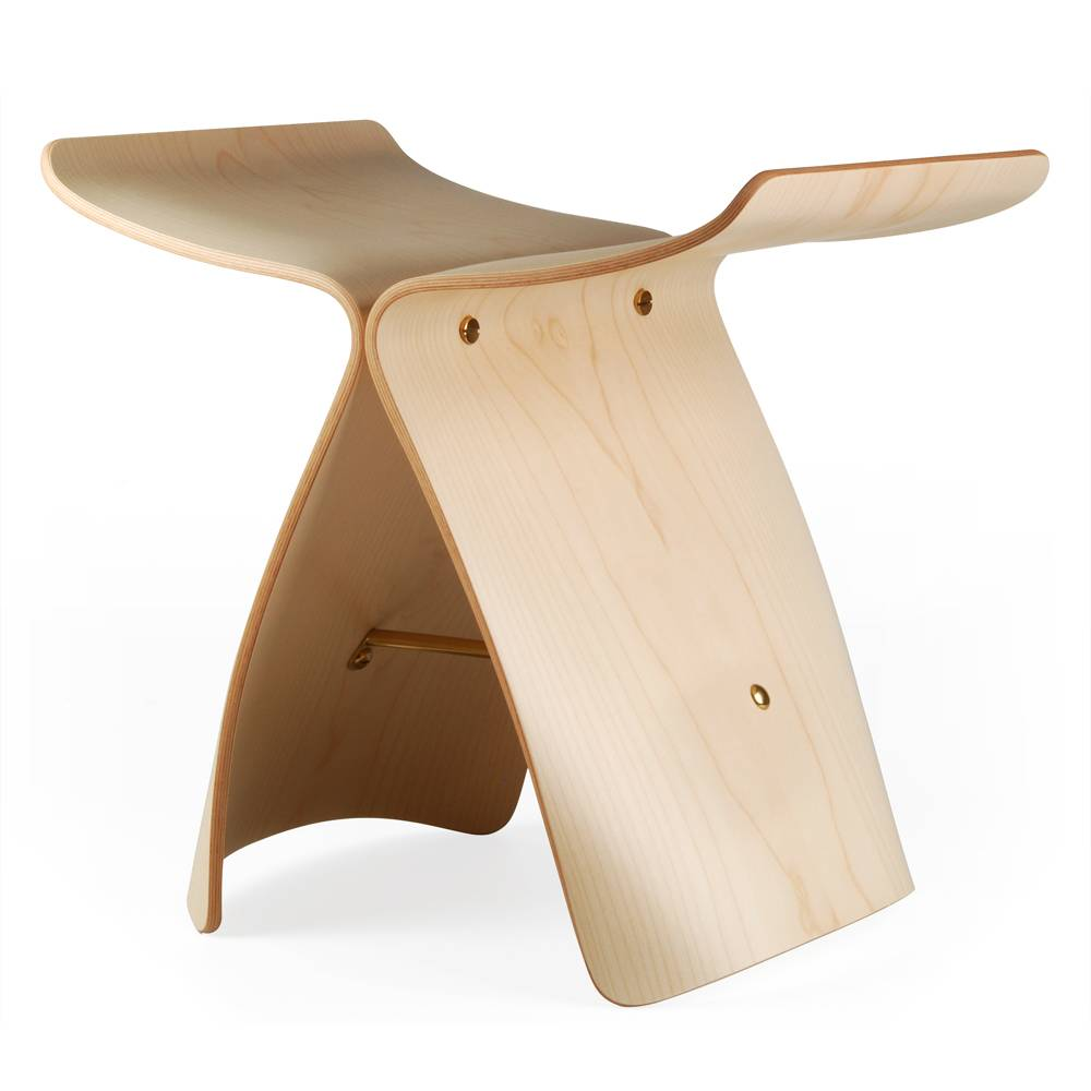 Hocker designklassiker  butterfly hocker | ahorn – design sori yanagi | bauhaus-shop ...