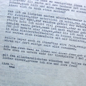 Otti Berger: Brief an Alexander Dorner vom 29.10.1938