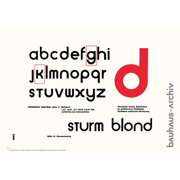 bauhaus-shop poster: universal-alfabet von herbert bayer