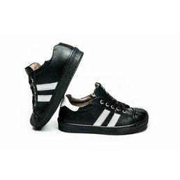 EB Italy Sneakers zwart met wit