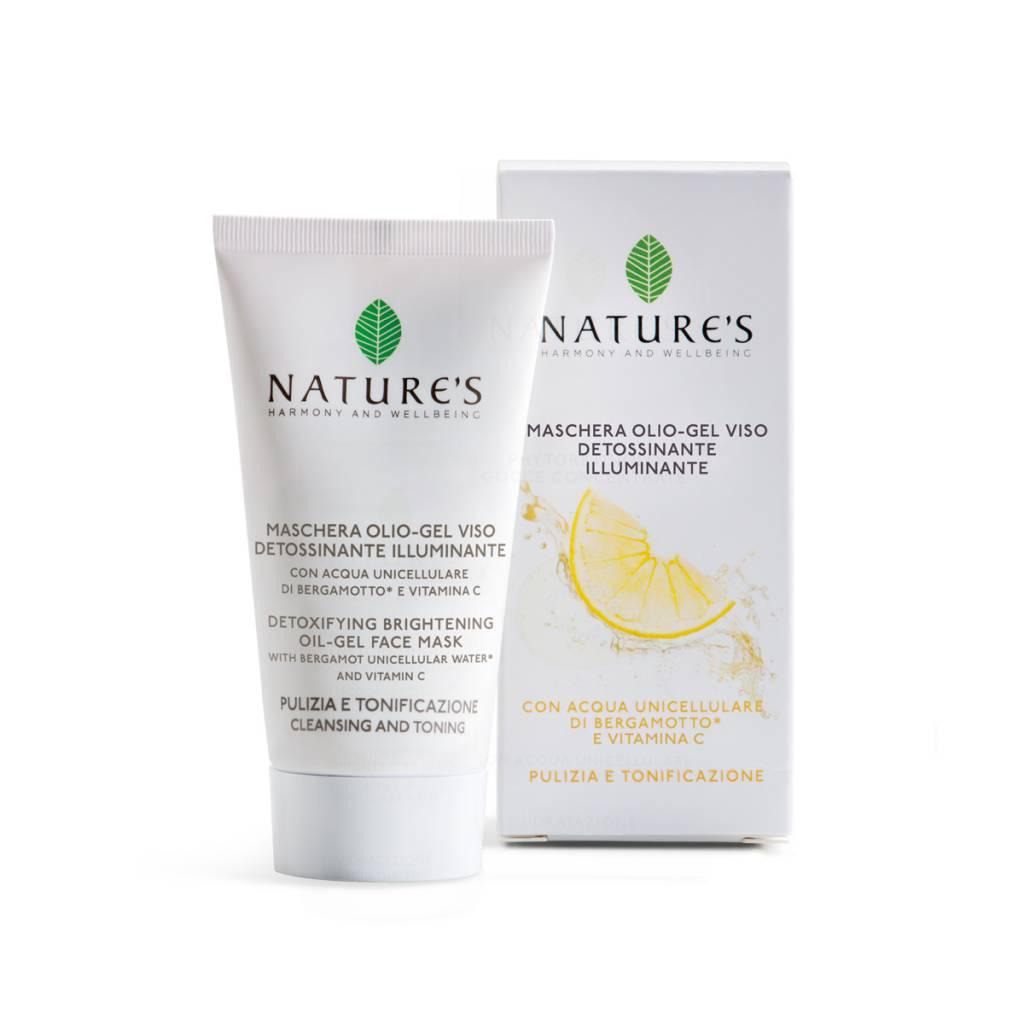 Nature's Zuiverend olie-gel gezichtsmasker met bergamot