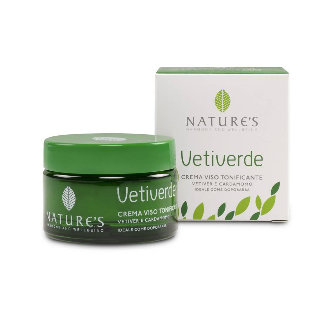 Nature's Verstevigende gezichts- en aftershave crème met vetiver en kardamom
