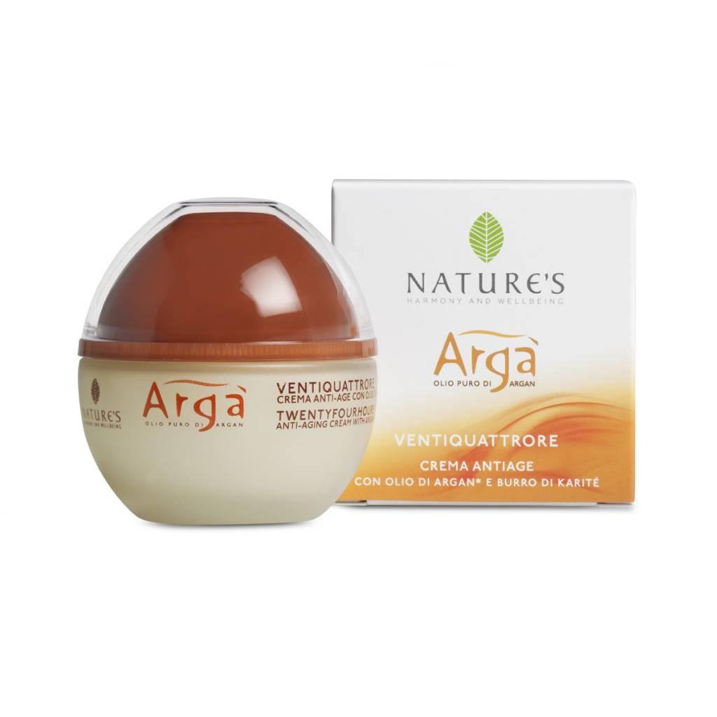 Nature's Arga Twentyfourhours - Anti-age gezichtscrème met Argan olie en karitéboter