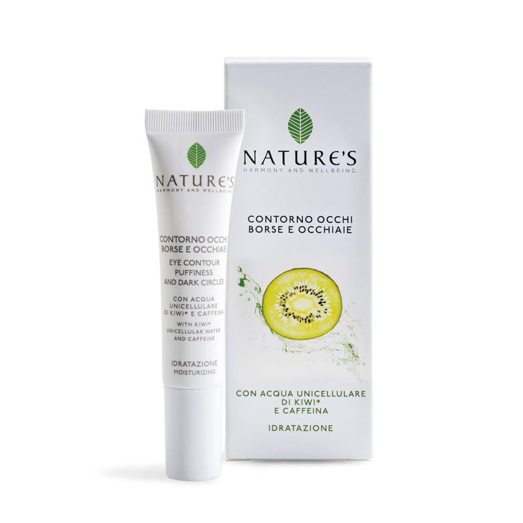 Nature's Oogcontour crème tegen wallen en kringen met cafeïne, aescine en gewone es-extract