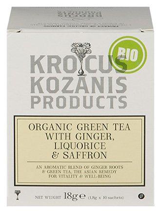 Krocus Kozanis Biologische saffraan thee met zoethout en gember