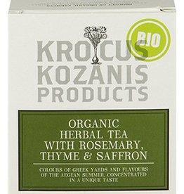 Krocus Kozanis Saffraan thee met rozemarijn en tijm
