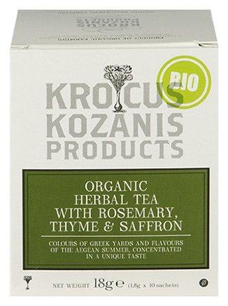 Krocus Kozanis Biologische saffraan thee met rozemarijn en tijm
