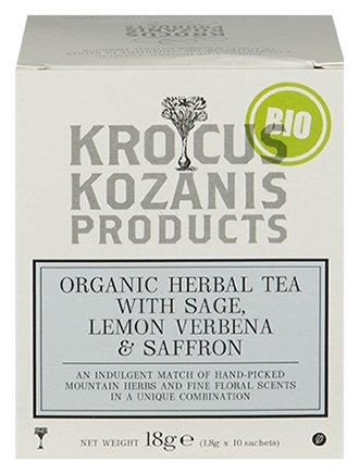 Krocus Kozanis Biologische saffraan thee met salie en verveine