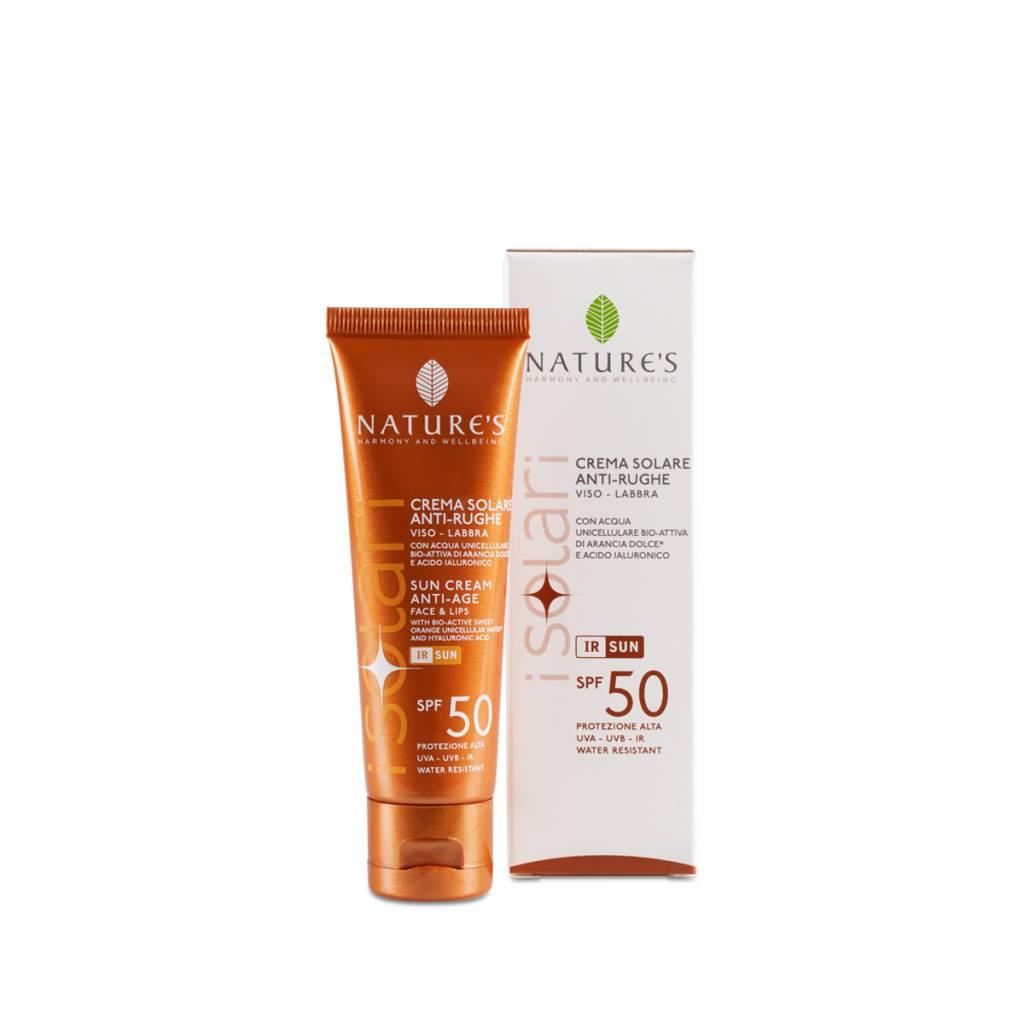 Nature's Zonnebrandcrème gezicht en lippen SPF 50