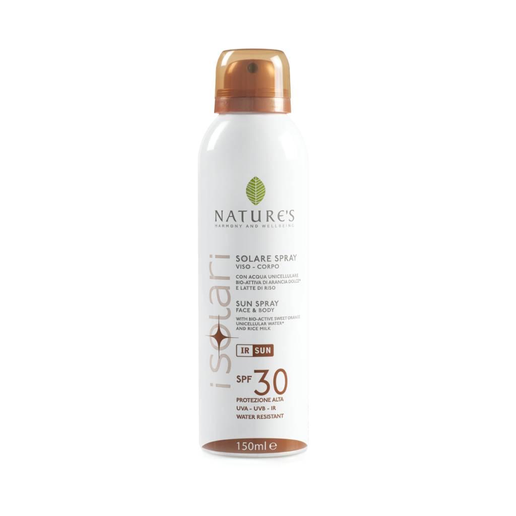 Nature's Zonnebrandspray voor gezicht en lichaam SPF 30