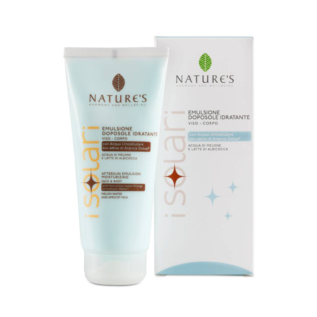 Nature's Aftersun lotion met meloenwater en abrikozenmelk