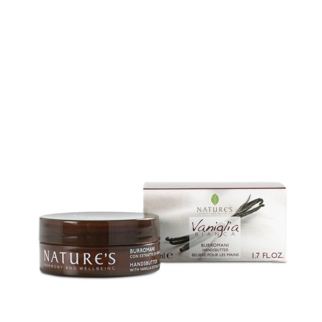 Nature's Handcrème met vanille-extract, mango- en cacaoboter