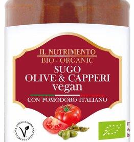 Il Nutrimento Pastasaus met olijven en kappertjes - glutenvrij