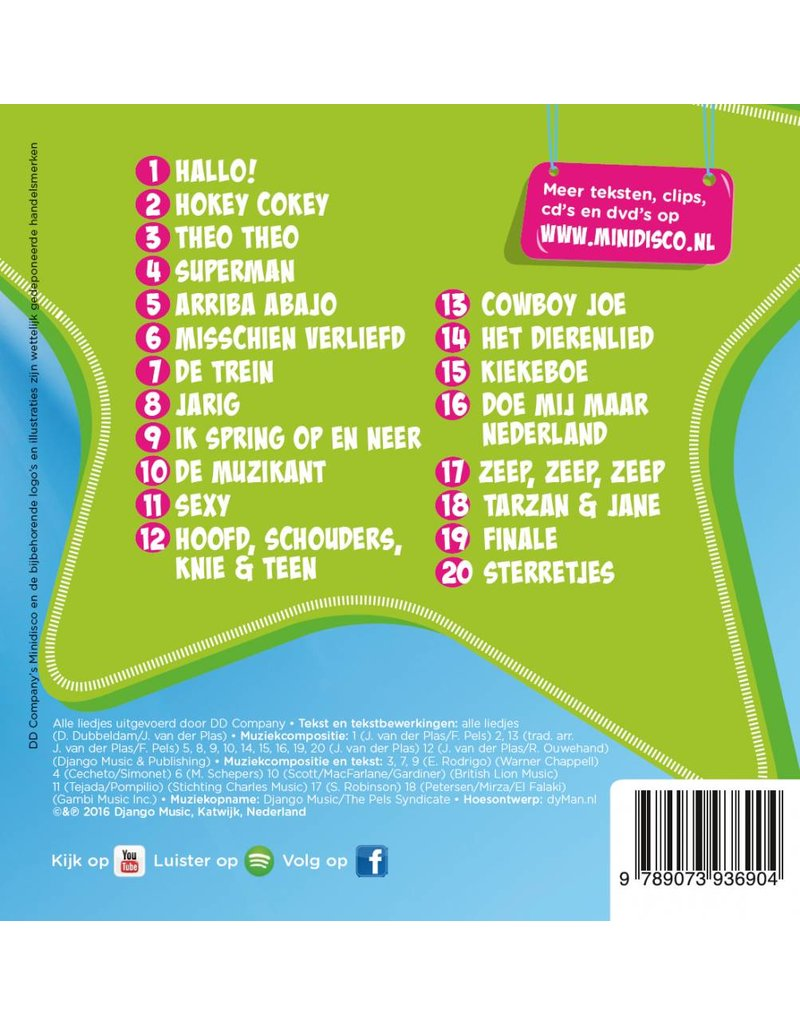 Minidisco Dutch songs CD #1
