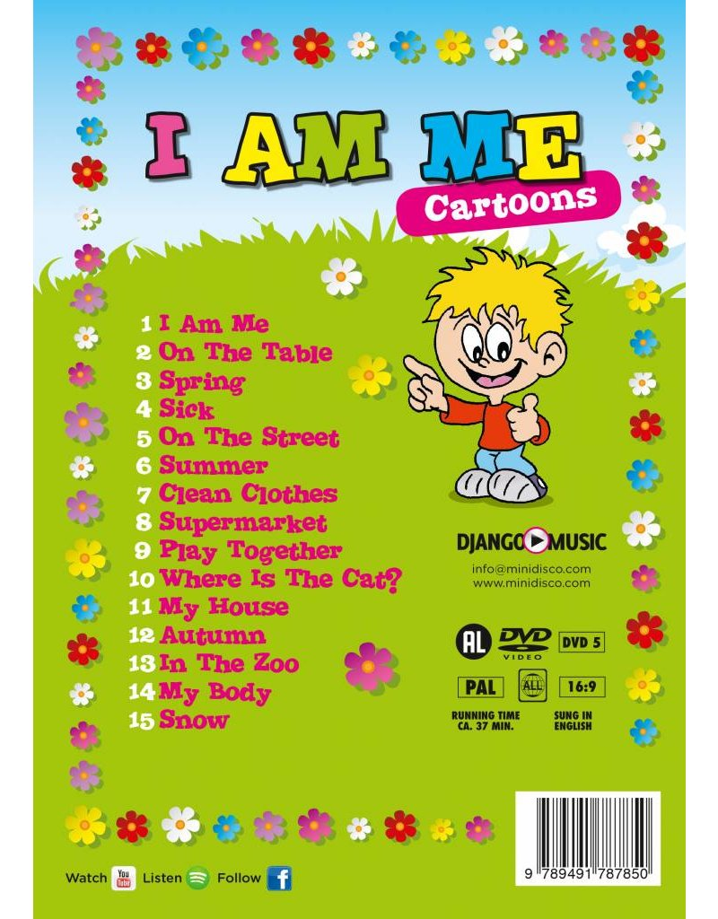 I AM ME - Versión Inglesa, Canciones Infantiles en DVD