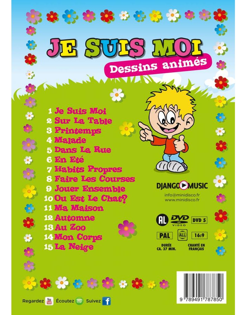 JE SUIS MOI - French DVD full of children's songs and videos