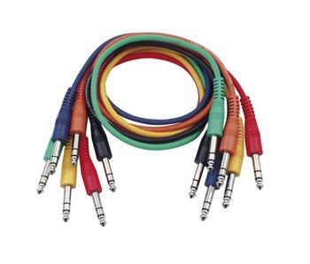 DAP Audio Patchkabel 60cm Gebalanceerd  - Connectoren Zes Kleuren Set