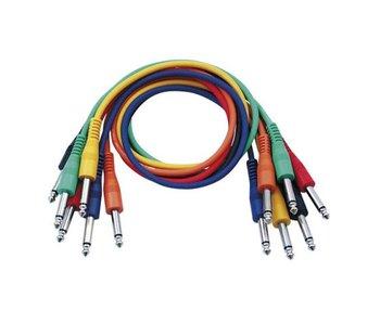 DAP Audio Patchkabel 90cm Ongebelanceerd  - Connectoren Zes Kleuren Set