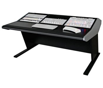 Sterling modular Three Bay Multi-Station Console - Producer Flat Desk Top Surface