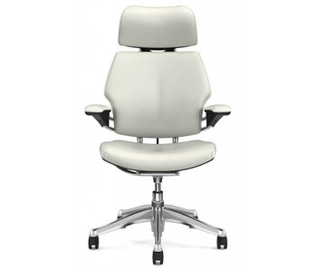 Humanscale Freedom Headrest White Leather