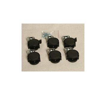 Auralex Casters / Wielen voor Progo 44 base - set van 6 wielen