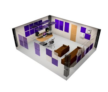 "Auralex Pro Plus Roominator Kit, 36-2'x2'x2"" Wedge panels, 12-LENRD Bass Traps, 8-T'Fusor, 8-TTPRO"