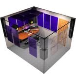"Auralex Deluxe Plus Roominator Kit, 24-2'x2'x2"" Wedge panels, 8-LENRD Bass Traps, 6-T'Fusor, 5-TTPRO"